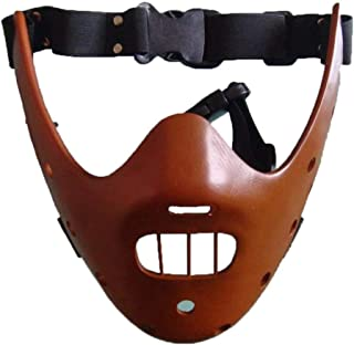 The Silence of Lambs Hannibal Lecter Resin Masks Masquerade Halloween Cosplay Dancing Party Props Half Face Mask
