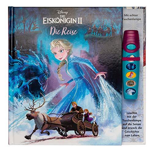 Disney Die Eiskönigin 2 - Interaktives Taschenlampen-Soundbuch mit 5 Geräuschen und Glitzerseiten für Kinder ab 3 Jahren
