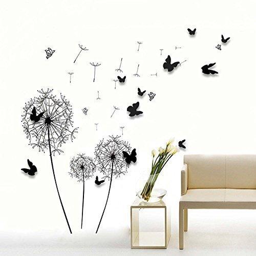 Walplus - COM Muurstickers papier kunst decoratie gekleurde boom met fotolijst 3D vlinders