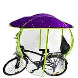 GAMINAC Regenschutz für Fahrrad, Violett/Blase Regenschirm MTB VTC und E-Bikes / Vorzelt / Vollschutz für Radfahrer und Kindersitz vor Witterungseinflüssen