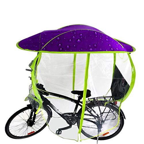 GAMINAC Regenschutz für Fahrrad, Violett/Blase Regenschirm MTB VTC und E-Bikes/Vorzelt/Vollschutz für Radfahrer und Kindersitz vor Witterungseinflüssen