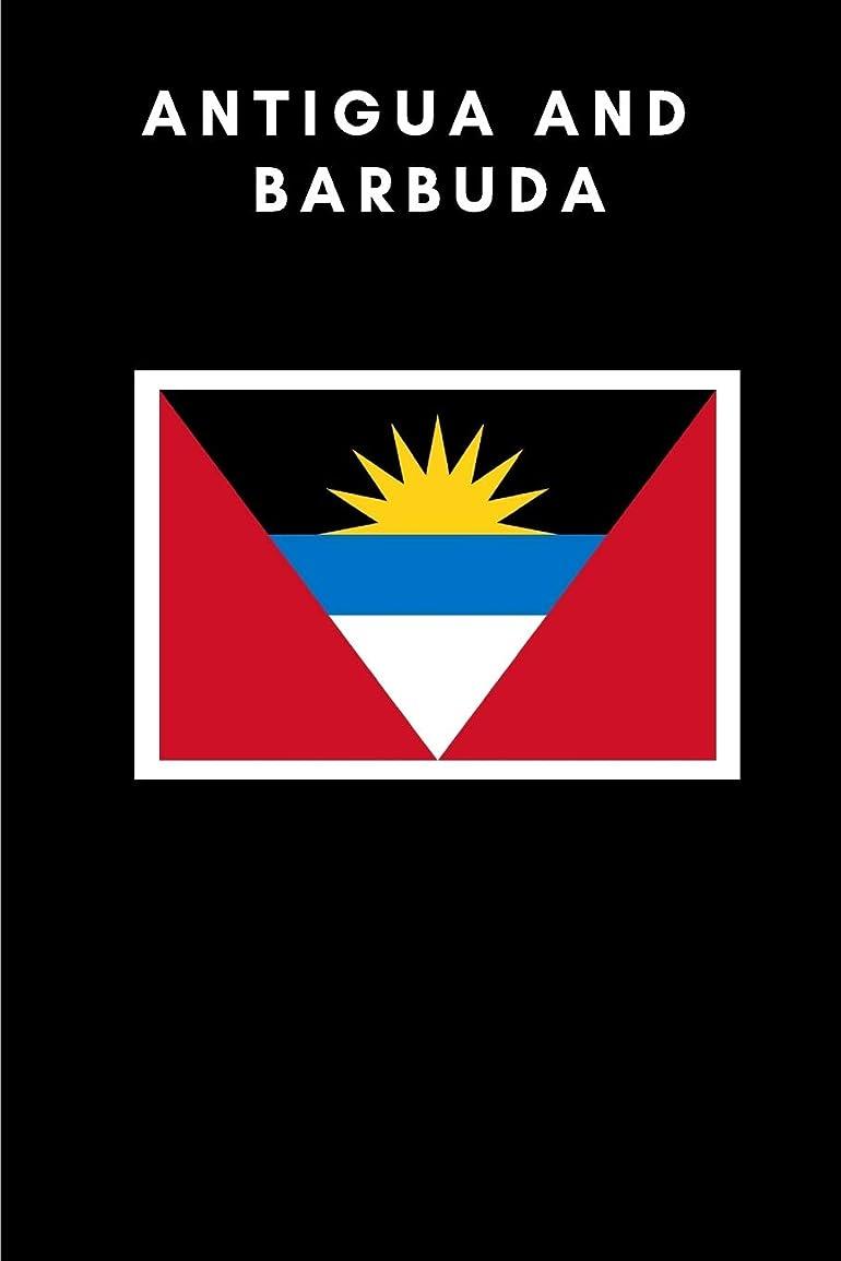 大惨事グラフィック割り当てAntigua and Barbuda: Country Flag A5 Notebook (6 x 9 in) to write in with 120 pages White Paper Journal / Planner / Notepad
