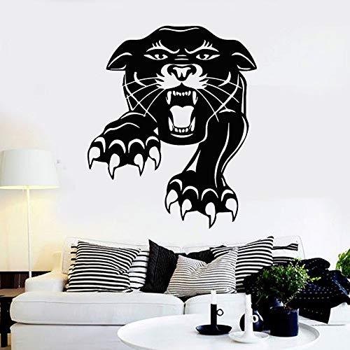 Tianpengyuanshuai Wilde Tier Leopard Vinyl Wandaufkleber Sofa Hintergrunddekoration Tier Raubtier Tiger Wandaufkleber Stammesdekoration Aufkleber 42X50cm