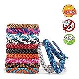 TechSmile Bracelets Anti-moustiques, Répulsifs à moustiques Naturels Huiles essentielles 12 Packs...
