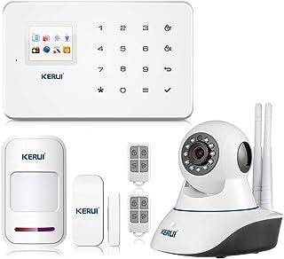 KERUI G18 APP Control Hogar del Alarma Sistema de Seguridad GSM Alarma Sensor de Ventana/Puerta Magnético Inalámbrico Detector Movimiento Cámara IP Vigilancia Infrarroja WIFI para el Casa/Tiend