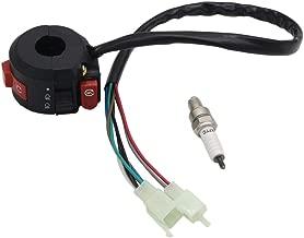 OTOHANS AUTOMOTIVE 3 Function Left Switch Assembly + Spark plug for 50cc 70 cc 90cc 110cc 125cc 150cc ATVs Quad 4 Wheelers Taotao SunL Coolster