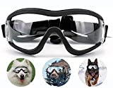 Dog Goggles Adjustable Sunglasses for Dog Anti-UV Protection Wind and Waterproof Goggles for Medium and Large Dogs
