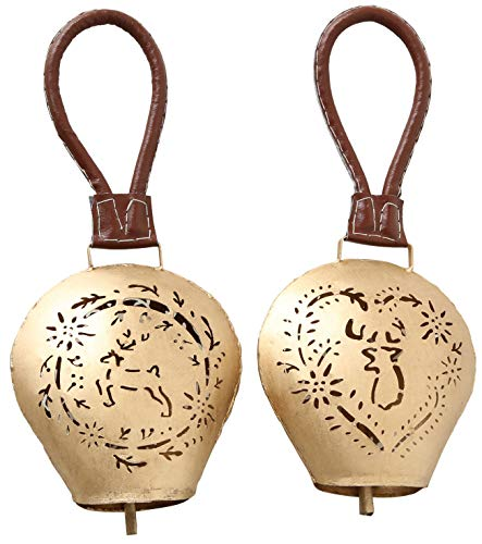 Boltze Glocke Leopold 2s H40cm Gold Eisen Hängerlänge: 20cm