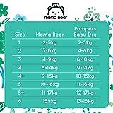 Mama Bear Ultratrockene Windeln Größe 6 (15+ kg) – mit Luftkanälen- 140 Windeln (2 Packungen à 70 Windeln) - 6
