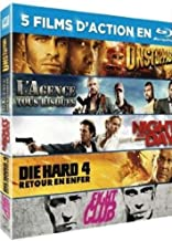 Unstoppable / L'agence tout risque / Night and Day / Die Hard 4 / Fight Club [Francia] [Pac Blu-ray]