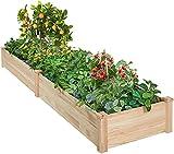 AMERLIFE Raised Garden Bed 8x2 FT Wood Raised...