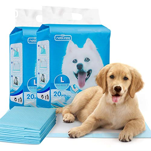 Nobleza- UltrasaugfähigeHunde TrainingsunterlagenWelpenunterlage Welpen Toilettenmatte,90 * 60cm,Packungmit 40 Stück