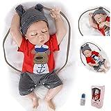 ZIYIUI DOLL Muñecos Bebé Reborn Silicona Cuerpo Completo Niño18 Inch 45cm Realista Recién Nacido Juguetes
