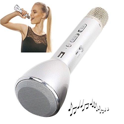 Clipsonic Karaoke Mikrofon mit Bluetooth Lautsprecher Echo Sound Effekt Wireless (Kabellos, Akku, USB-Anschluss, Smartphone, PC, Tablet)