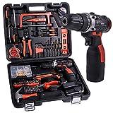 Cordless Hammer Drill Tool Kit SUPSOO 60Pcs Household Power Tools Drill Set