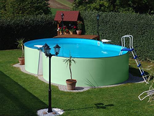 Planet Pool Achtform-Stahlwandpool 470 x 300 x 105 cm ohne Zubehör