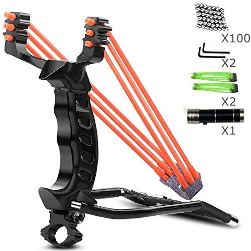 ucho Professional Slingshot Set,Outdoor Shot Slingshot Hunting Wrist Rocket Slingshot with High Velocity Catapult for Adult and Kids