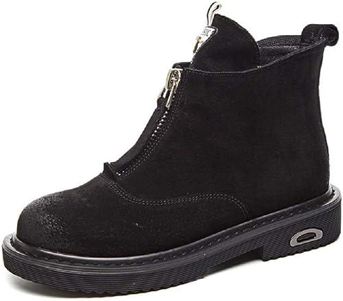 Gaslinyuan Chaussures Courtes Femme en Cuir à Fermeture éclair (Couleuré (Couleuré   Noir, Taille   EU 37)  grande vente