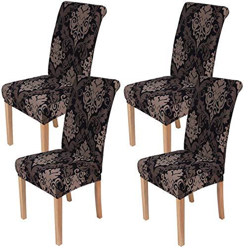 Homaxy Universal Stretch Stuhlhussen 2er 4er 6er Set Stuhlbezug für Stuhl Esszimmer (4er Set, Style 10)