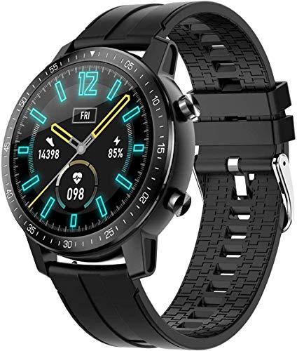 Inteligente multifuncional deportes de gama alta pulsera reloj 1.3 pulgadas círculo completo pantalla táctil ip68 impermeable reloj deportes al aire libre regalo-naranja-negro