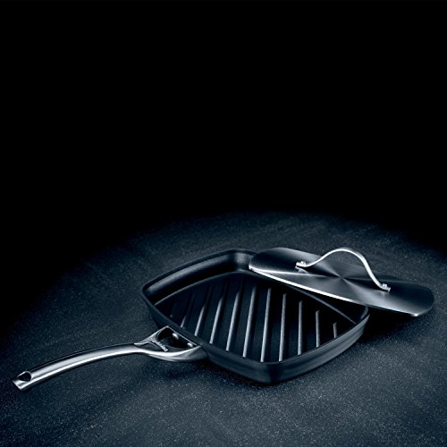 Calphalon Contemporary Hard-Anodized Aluminum Nonstick Cookware, Panini Pan and Press, 13 3/4-inch, Black