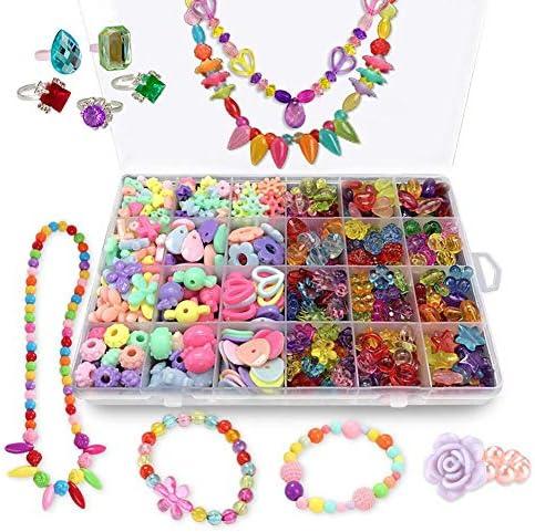 Bead Kits for Girls Kids Crafts Girls Jewelry Making Kits Colorful Acrylic Girls Bead Set Jewelry product image