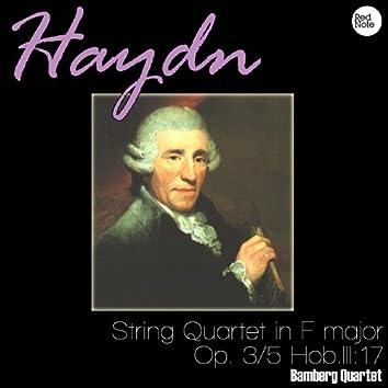 Haydn: String Quartet in F major, Op. 3/5 Hob.III:17