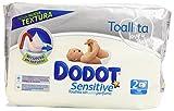 Dodot - Toallitas para piel sensible, sin perfume - 2 paquetes 108 toallitas - Pack de 6 (Total 648 toallitas)