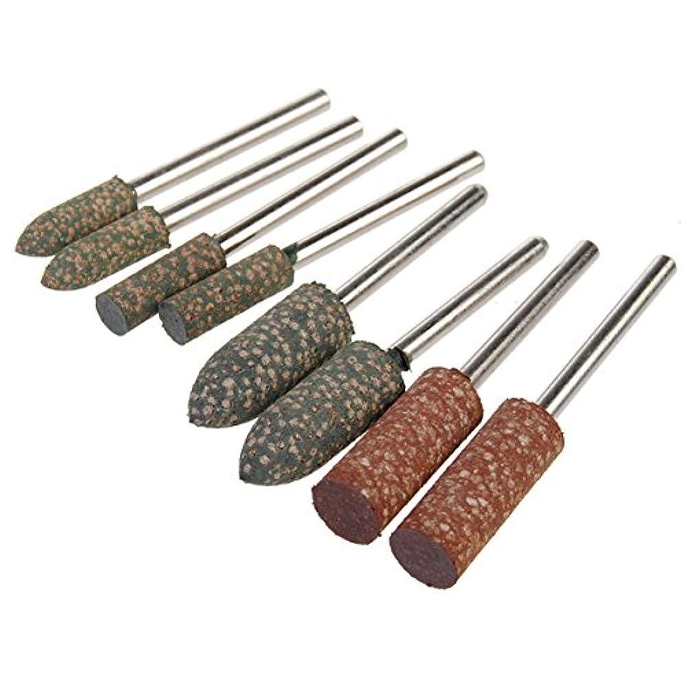 熱狂的なウェイド大臣8本のシャンクゴム研削盤Dremelロータリー工具用研削工具