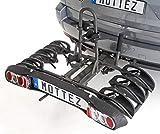 Unbekannt Mottez A021P3RA Verstellbarer und Zusammenkalpender Fahrradträger - 3 Räder