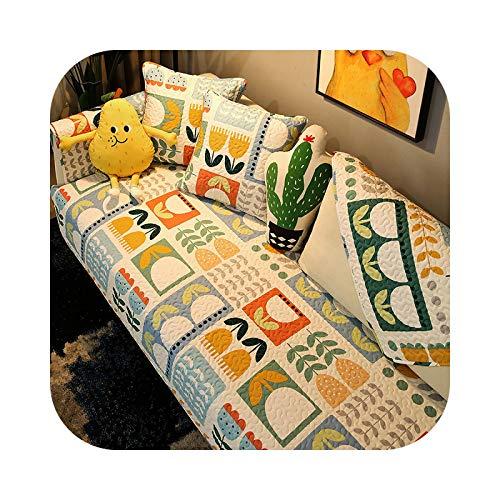 Funda de sofá para sofá, funda transpirable, cojín antideslizante, cojín para sofá, para salón, A1-110 x 180 cm