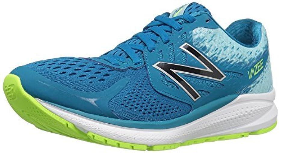 ベリ突進千New Balance Women's Vazee Prism V2 Running Shoe Deep Ozone Blue/Lime Glow 6 B US [並行輸入品]