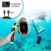 FEIMUOSI Alojamiento Impermeable con Puerto de Domo para GoPro Hero, Estuche Impermeable para Accesorios GoPro con Pistola de gatillo y Agarre Flotante Fotografía subacuática.