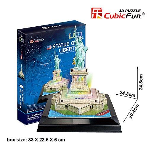 CubicFun 3D Puzzle LED Estatua DE LA Libertad 37 Piezas