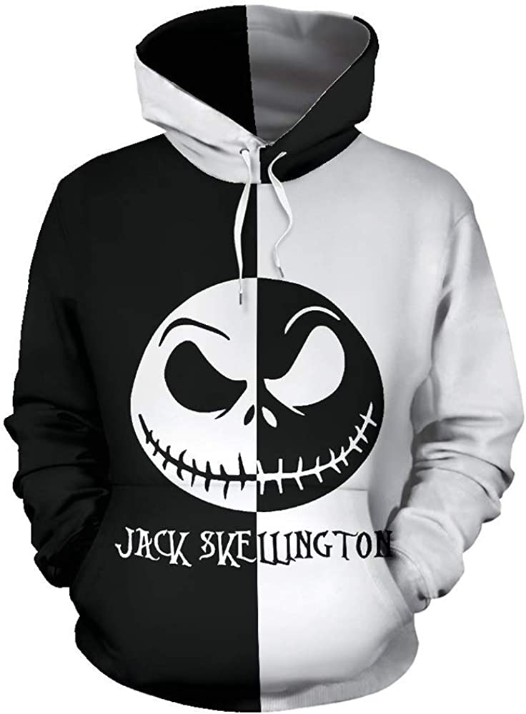 Alwoe The Nightmare Before Christmas 3D Style New Classic Cosplay Hooded Sweatshirt Clothing/Adult