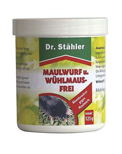 Dr. Stähler 001595 Maulwurf- und Wühlmaus Frei, 125 g, 100 Kugeln