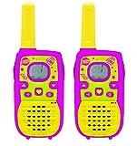 LEXIBOOK TW41SL Disney Soy Luna-Par de walkie talkies Digitales, Rango 5 kms, Color Rosa/Amarillo