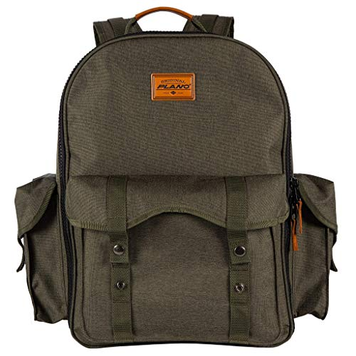 Plano A-Series 2.0 Tackle Backpack, Includes Five 3600 Tackle Storage Stows Dark Green and Beige, One Size