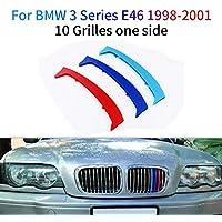 M-Colore Franjas Decorativas para Parrilla Delantera para 3 Series E46 316 318 320 325 328 330 323 Sedan and Touring 1998-2001 3 Piezas (10 Varillas)