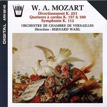 Mozart : Divertissement, Quatuors à cordes, Symphonie