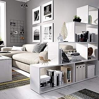 Estantería Blanca diseño Escalera Funcional 6 Huecos para almacenar