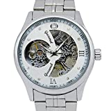 NC Men's Watch Fully Automatic Mechanical Watch Core Hollow Watch Stainless Steel Strap Watch Leisure Business Waterproof Watch