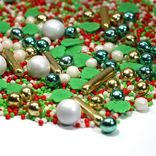 mySprinkles 180g Zuckerstreusel Santa Claus Mix Sprinkles - Streusel perfekt für Weihnachten...