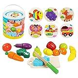 Ballery Cucina Legno per Bambini, 13 Pezzi Cucina Giocattolo per Bambini Gioca Set di Cibo...