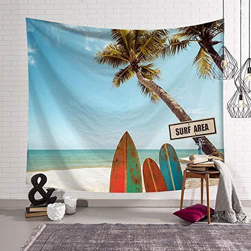 N / A Tapiz de Ciudad Dulce Bohemia Colgante de Pared Paisaje costero tapices de Palma de Coco Tenture Murale Mandala Toalla de Playa Estera de Yoga Tapiz de Fondo Tela Decorativa A3 150x200cm