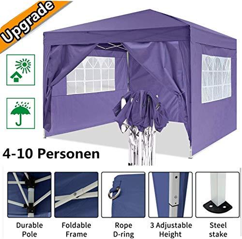 Oppikle Plegable Carpa con Paredes 3x3/3x6m - Impermeable, con Protección Solar, Ideal...