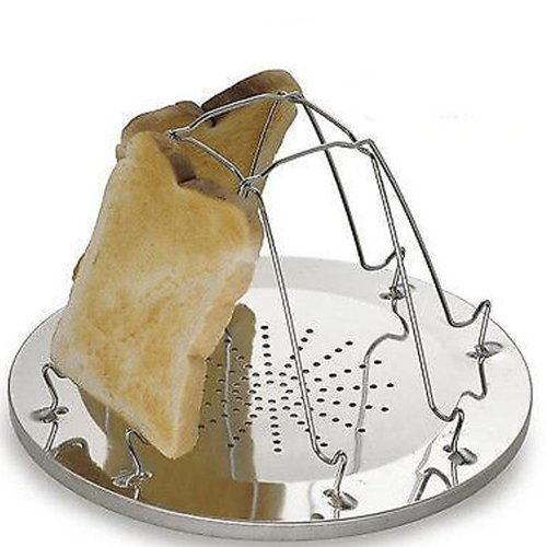 4 SLICE FOLDING TOASTER CAMPING FISHING For GAS HOB COOKER FIRE STOVE TOAST CAMP by Generic