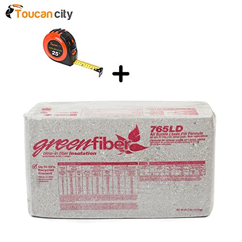 GreenFiber All Borate Cellulose Blow-in Insulation 30 lbs. (36-Pallet) INS765LD and Toucan City...
