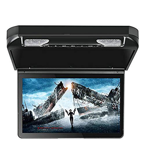 Bw 33,8 cm Toit de voiture monté moniteur – écran 1920 x 1080p, PAL + NTSC, USB, carte SD