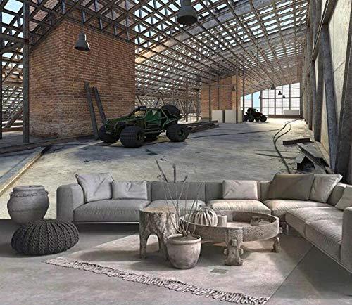 Fotobehang voor de woonkamer, slaapkamer, behang, muurbodem, industrieel baksteen-model 400 x 280